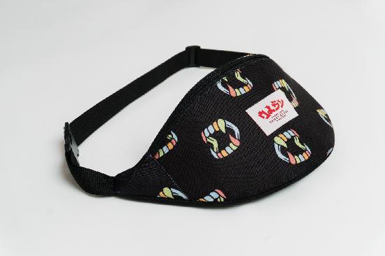 Сумка Oldy (черный, челюсти разноцветный)
