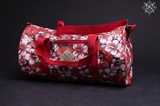 Сумка дорожная duffle bags (цветы красные)