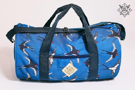 Сумка дорожная duffle bags (ласточки синие)