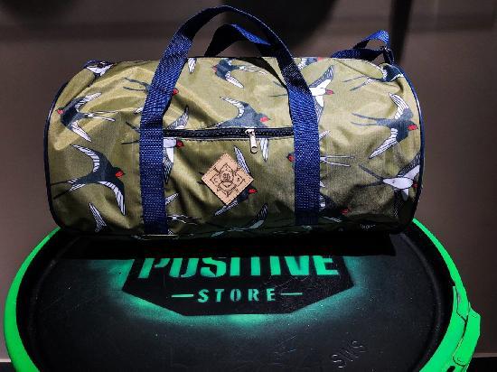 Сумка дорожная duffle bags (ласточки зелёные)