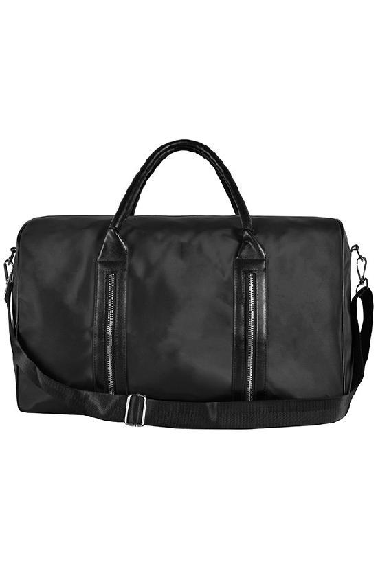 Сумка / Glam / 1268 Нейлоновая сумка молнии сбоку 45х15х28 / чёрный
