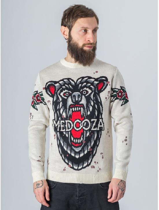 Свитер MEDOOZA Bear (белый)