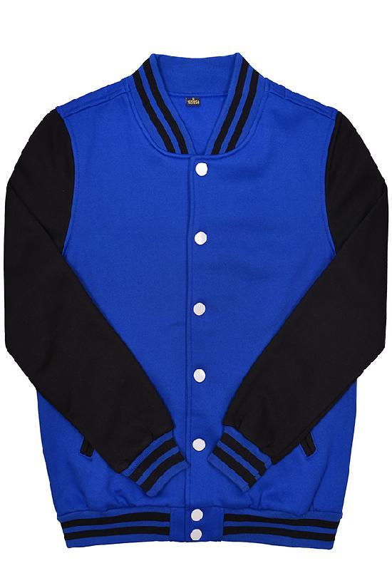 Куртка бомбер / Spb Apparel / VCJ V 2 / синий с чёрными рукавами