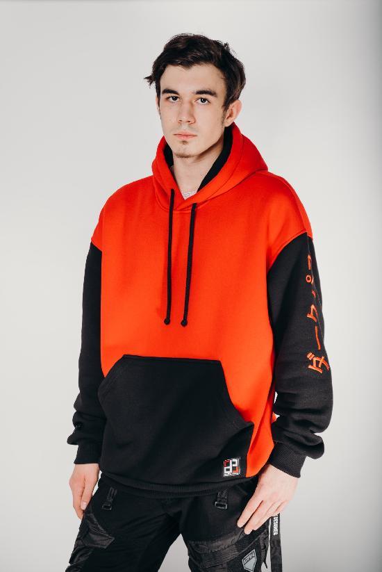 Худи / DARK PATH / DP-Х002-20 / начёс / красный-чёрный