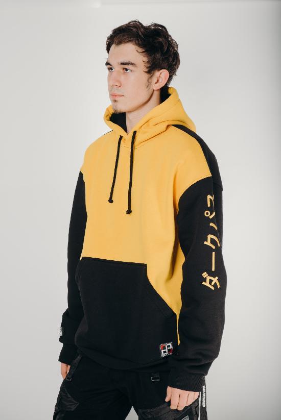 Худи / DARK PATH / DP-Х001-20 / начёс / жёлтый-чёрный