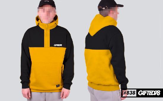Худи GIFTED FX 18/838 черно-желтый