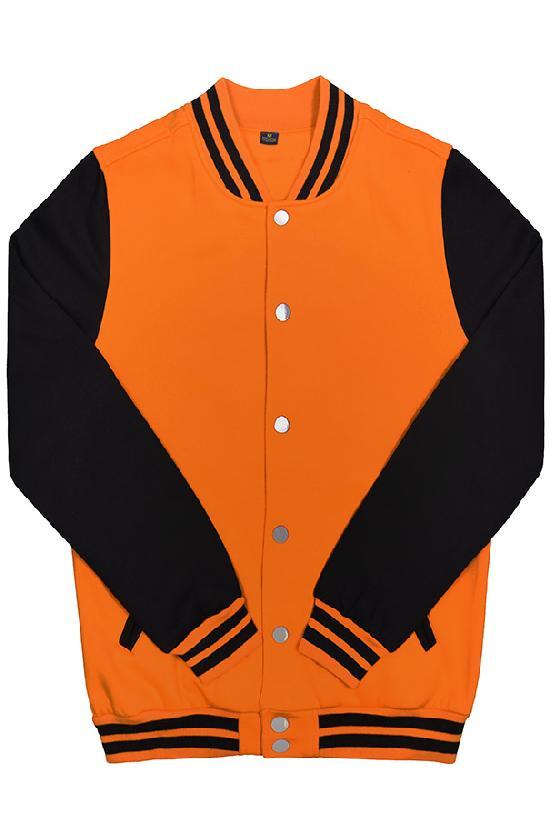 Куртка бомбер / Spb Apparel / VCJ V 2 / оранжевый с чёрными рукавами