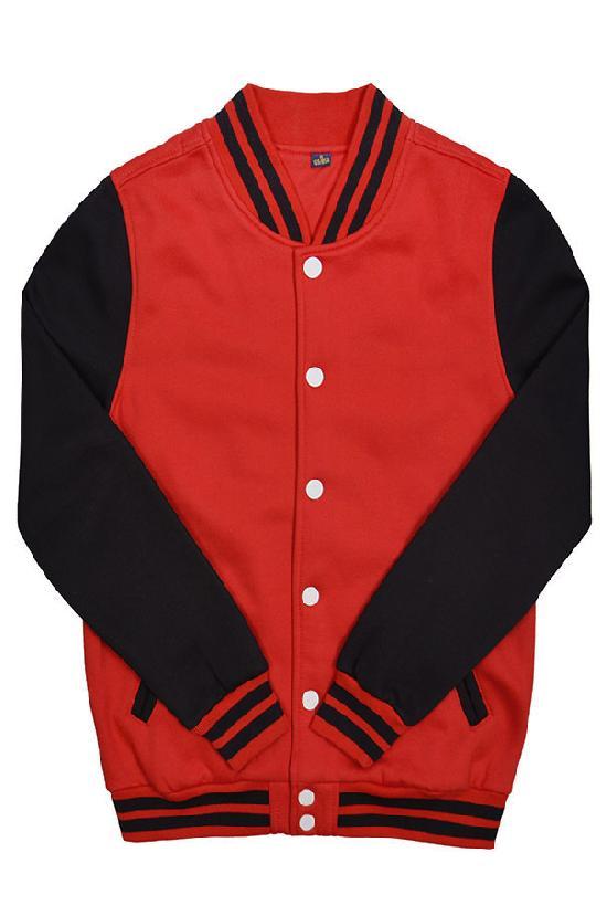 Куртка бомбер / Spb Apparel / VCJ V 2 / красный с чёрными рукавами