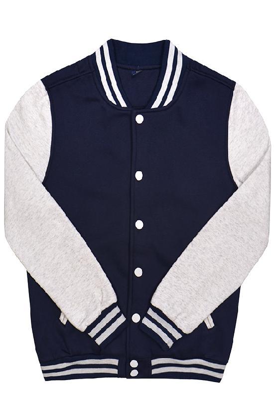 Куртка бомбер / Spb Apparel / VCJ V 2 / тёмно-синий с светло-серыми рукавами