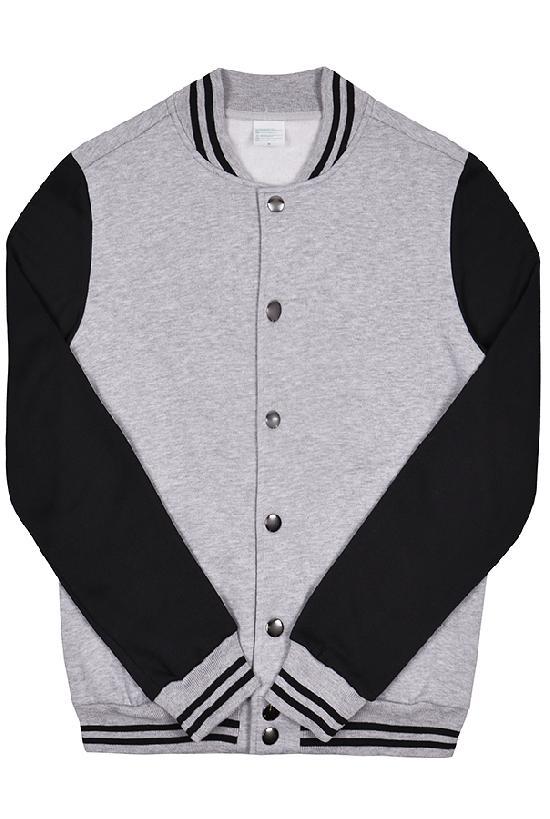 Куртка бомбер / Spb Apparel / VCJ V 1 / серый с чёрными рукавами