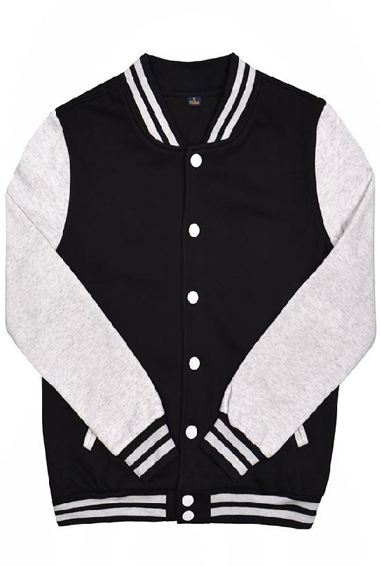 Куртка бомбер / Spb Apparel / VCJ V 2 / чёрный с светло-серыми рукавами
