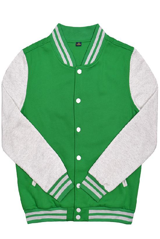 Куртка бомбер / Spb Apparel / VCJ V 2 / зелёный с светло-серыми рукавами