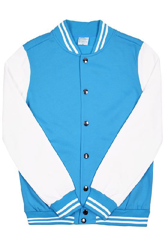Куртка бомбер / Spb Apparel / VCJV 1 / голубой с белыми рукавами