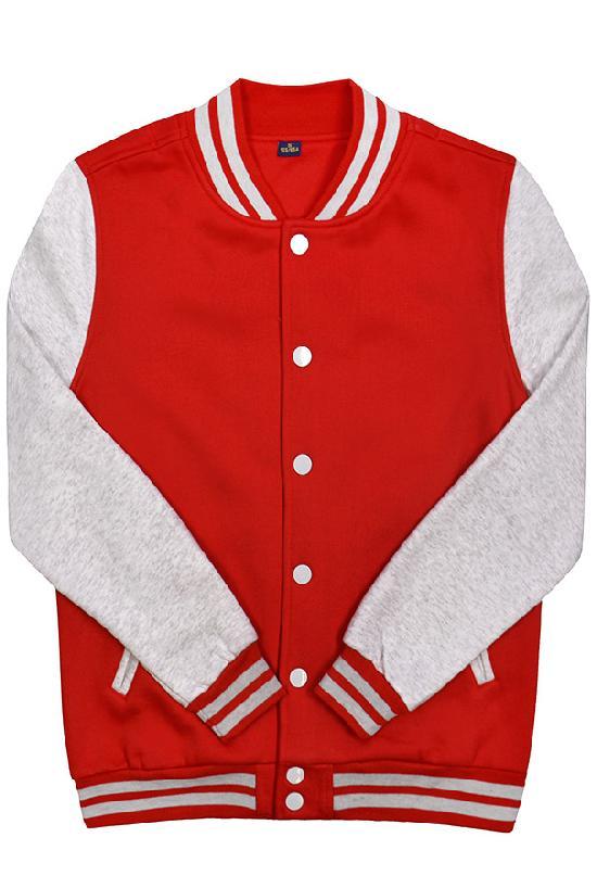 Куртка бомбер / Spb Apparel / VCJ V 2 / красный с светло-серыми рукавами