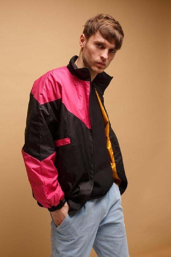 Куртка ONE TWO Олимпийка 3.0, черный-фуксия, (2-5)