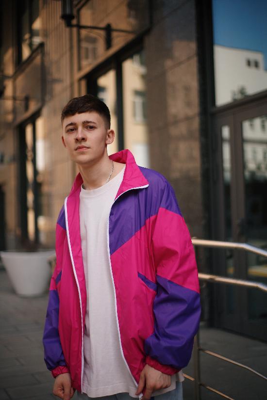 Куртка ONE TWO Олимпийка 3.0, фуксия-фиолет, (2-5)