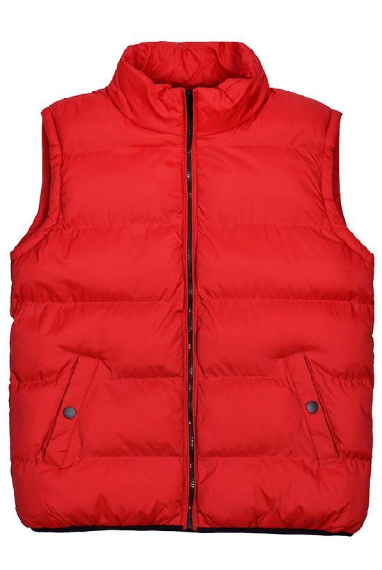 Жилет  Fashion Wear / 1207 Кнопка на кармане / красный