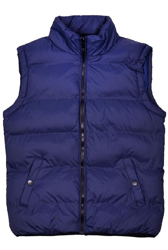 Жилет Fashion Wear / 1207 Кнопка на кармане / тёмно-синий