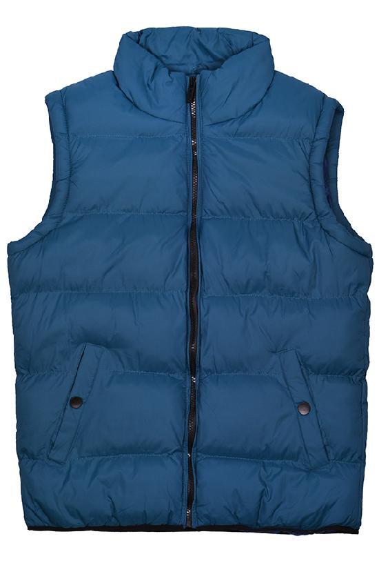 Жилет Fashion Wear / 1207 Кнопка на кармане / сине-зелёный