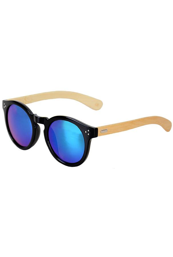 Очки / Woody / 4023 MC-1 Fashion / чёрный с сине-зелёными линзами
