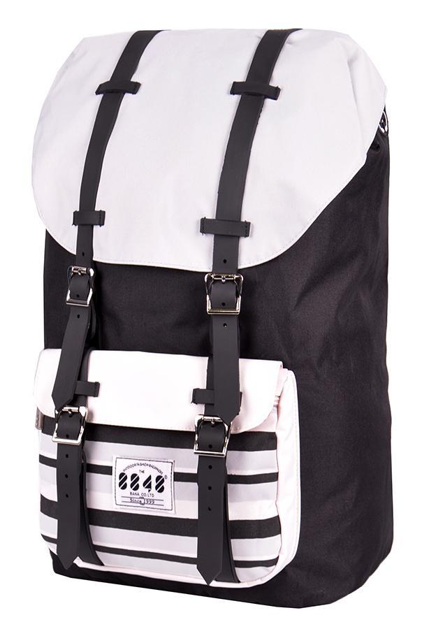 Рюкзак / 8848 / S15005-2 Два ремня 52х19х32 см / чёрно-белый