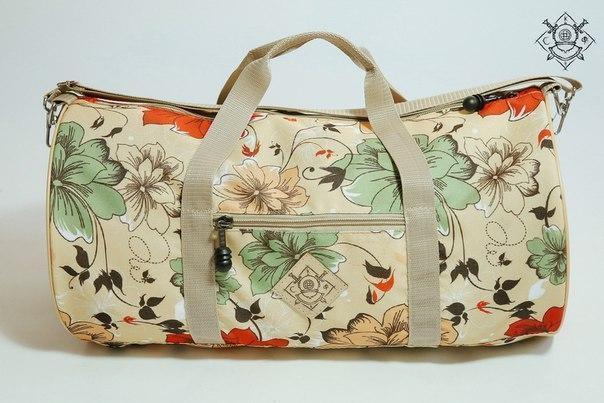 Сумка дорожная duffle bags (цветы)