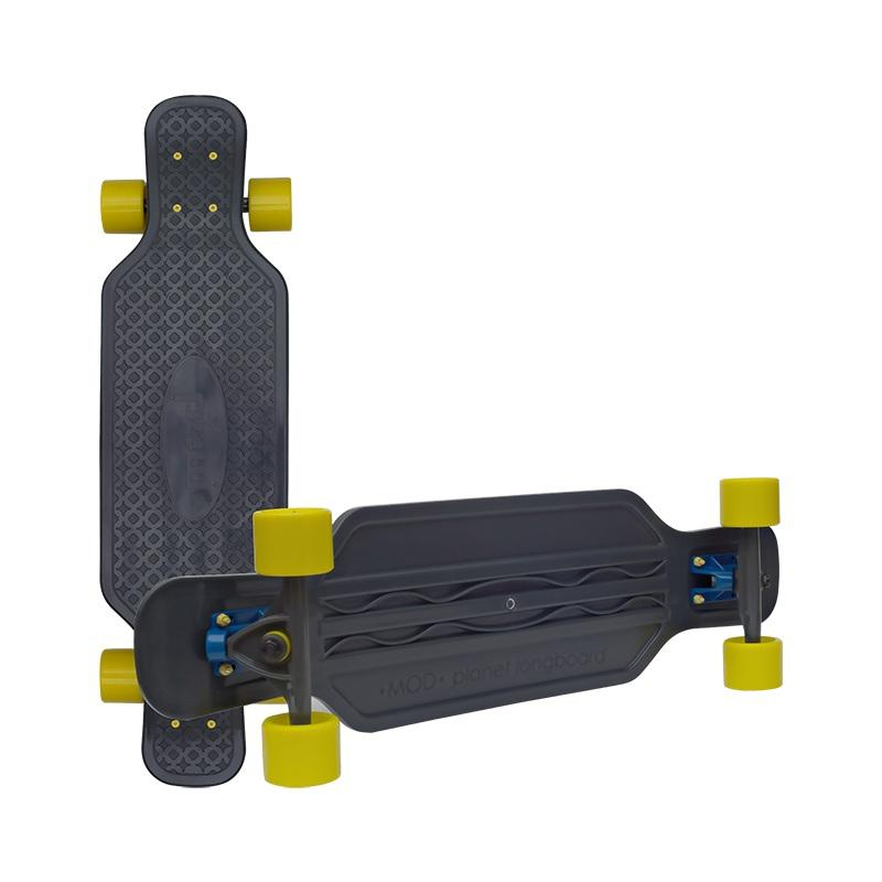 Скейт MOD Longboard 32\'\' black/yellow wheels