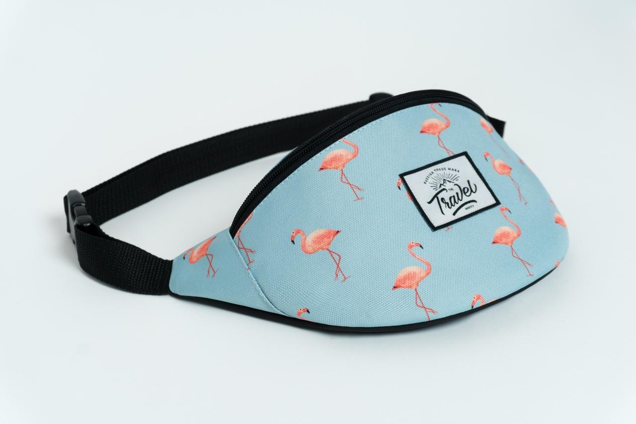 Сумка Travel (голубой/фламинго)