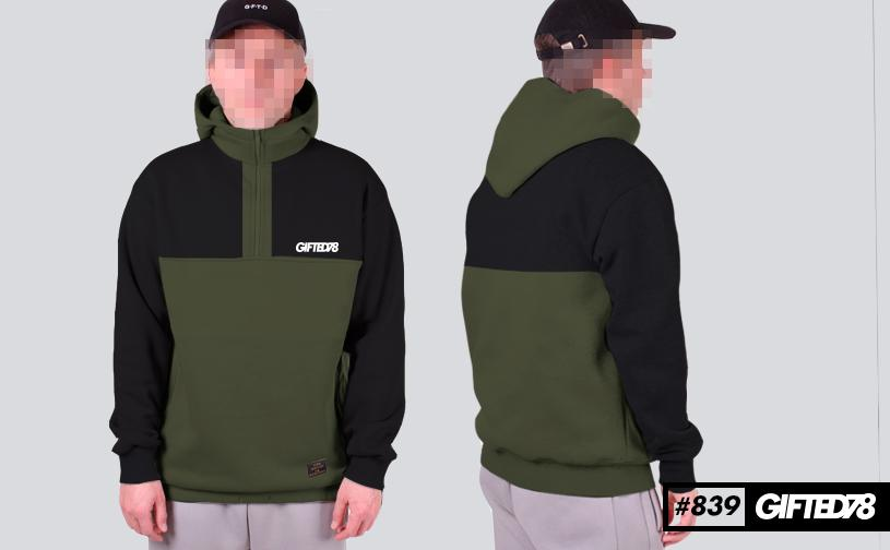 Худи GIFTED FX 18/839 черно-зеленый